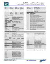 Model C1428A 8Pt SIDEBAR LED ANNUN 24Vdc +com Inputs - 2
