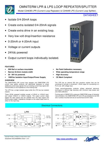 Model C2463B Omniterm LPR Loop Repeater