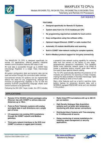 Model M1240B CPU T2