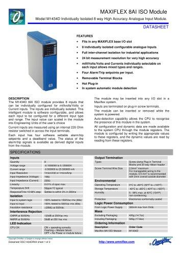 Model M1434E Maxiflex 8AI ISO module