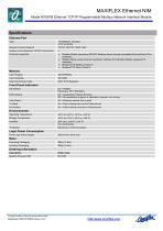 Model M1591B MODBUS/TCP ETHERNET NIM - 2