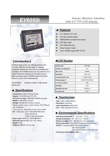 Model MT6050i OIT 4.3 Inch