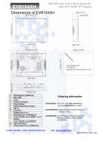 Model MT8104xh OIT 10.4 Inch - 2