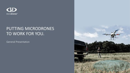 Microdrones Company and Product Overview