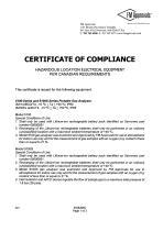 SERVOFLEX Micro i.s. 5100 Certification Manual 05100008A_5 - 32