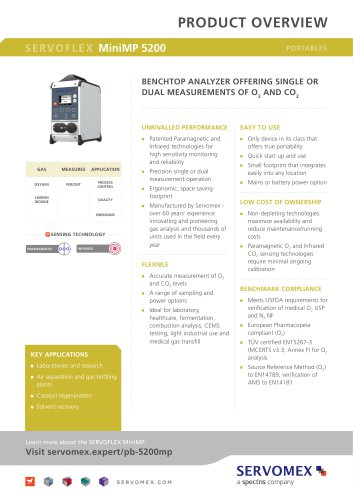 SERVOFLEX MiniMP 5200 Product Brochure