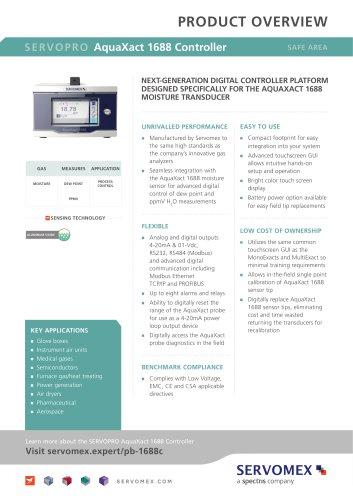 SERVOPRO AquaXact 1688 Controller Product Brochure