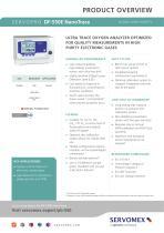 SERVOPRO DF-550E NanoTrace Product Brochure - 1
