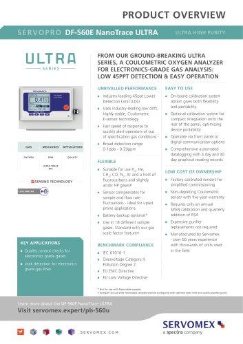 SERVOPRO DF-560E NanoTrace ULTRA Product Brochure