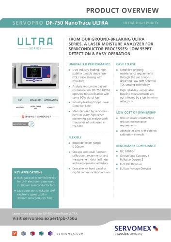 SERVOPRO DF-750 NanoTrace ULTRA Product Brochure
