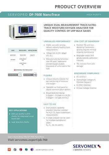 SERVOPRO DF-760E NanoTrace Product Brochure
