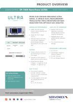 SERVOPRO DF-760E NanoTrace ULTRA Product Brochure - 1