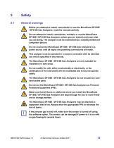 SERVOPRO MonoExact DF150E-DF310E Operator Manual - issue 1.1 - 13