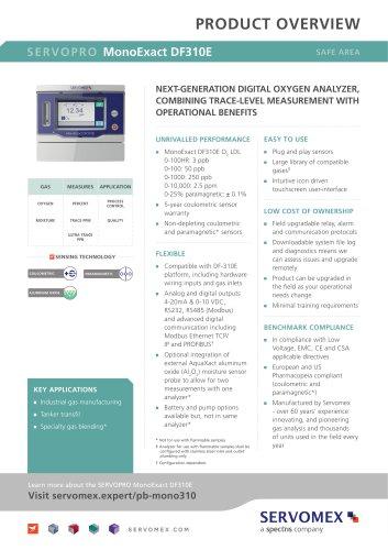 SERVOPRO MonoExact DF310E Product Brochure