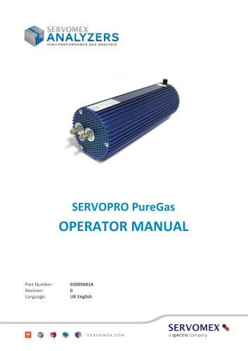 SERVOPRO PureGas Operator Manual 02005001A_0