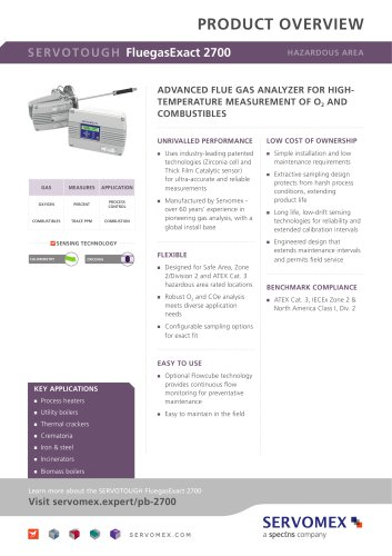 SERVOTOUGH FluegasExact 2700 Product Brochure