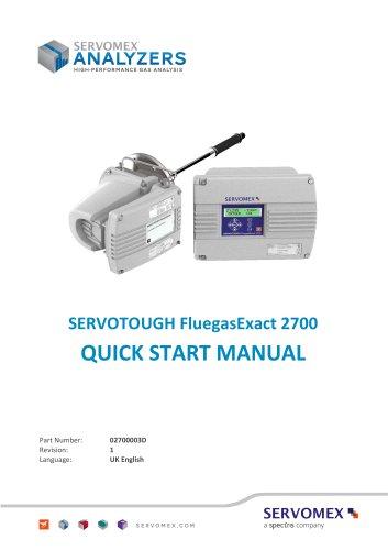 SERVOTOUGH FluegasExact 2700 Quick Start Manual 02700003D_1
