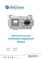SERVOTOUGH Oxy 1900 Certification Manual 01910008B_10 - 1