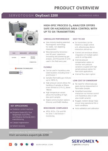 SERVOTOUGH OxyExact 2200 Product Brochure