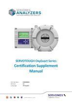 SERVOTOUGH OxyExact 2200 Series Certification Manual 02200008A_22 - 1
