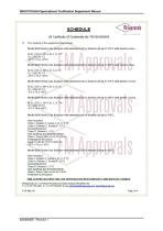 SERVOTOUGH SpectraExact 2500 Approvals_Certificates & Conditions Manual 02500008E_1 - 18