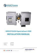 SERVOTOUGH SpectraExact 2500 Installation Manual 02500005E_0 - 1