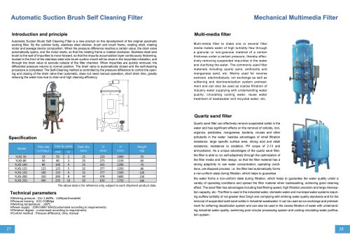 Automatic Suction Brush Self Cleaning Filter