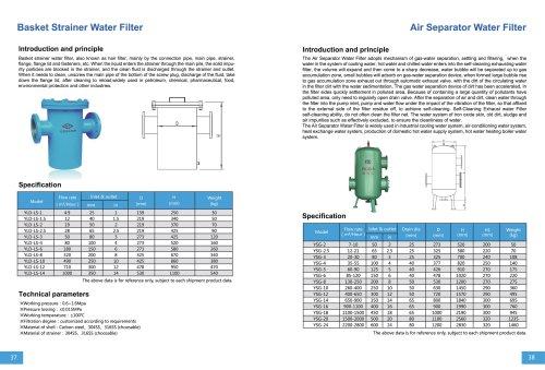 Basket Strainer Water Filter