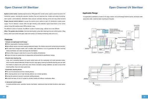 Open channel UV water Treatment