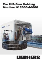Gear hobbing machines LC 2000-16000