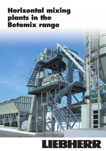 Horizontal mixing plants in the Betomix range