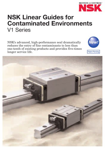 LINEAR GUIDES FOR CONTAMINATED ENVIRONMENTS - V1 SERIES
