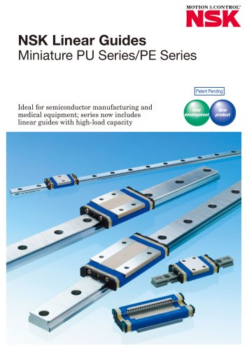 LINEAR GUIDES - MINIATURE PU SERIES / PE SERIES