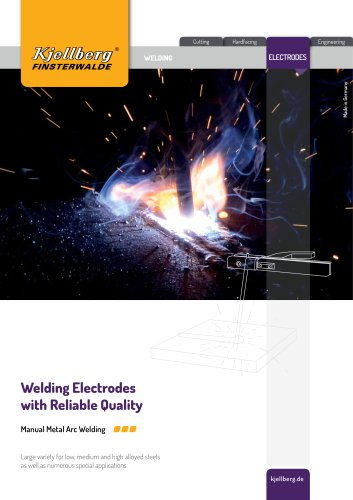 Welding electrodes with reliable quality