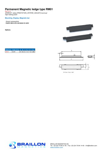 Permanent Magnetic ledge type RM01