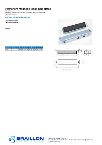 Permanent Magnetic ledge type RM03