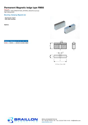 Permanent Magnetic ledge type RM06