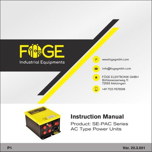 AC Type Power Units SE-PAC Series