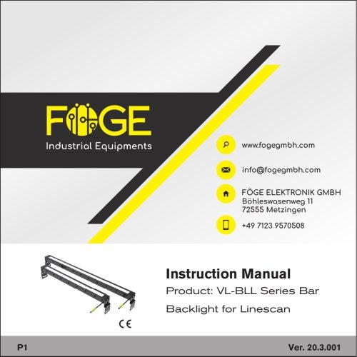 Backlight for Linescan VL-BLL Series Bar