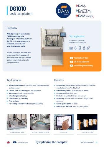 DG1010 Leak test platform