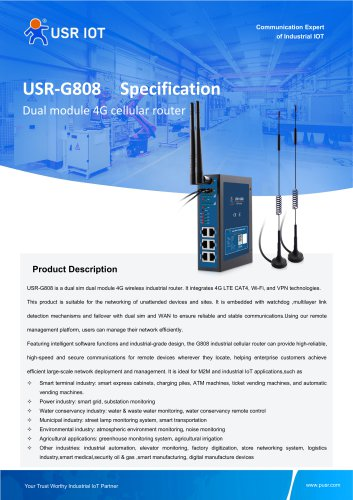 USRIOT USR-G808 cellular routers