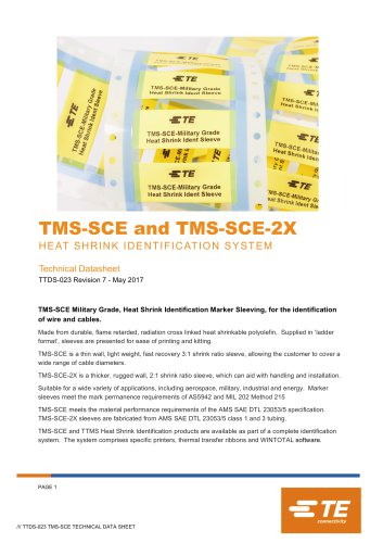 TMS-SCE and TMS-SCE-2X HEAT SHRINK IDENTIFICATION SYSTEM