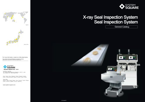 X-ray Seal Inspection System - General Catalog