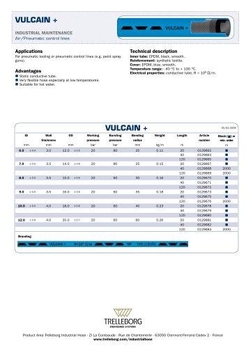 Pneumatic control lines VULCAIN +