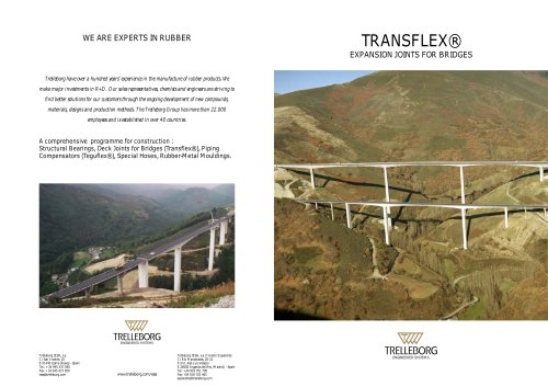 TRANSFLEX® EXPANSION JOINTS FOR BRIDGES
