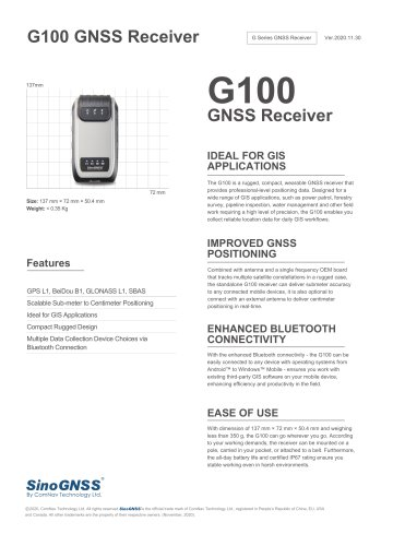 G100 GNSS Receiver