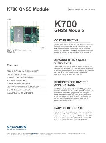 K700 GNSS OEM Board