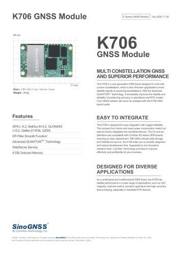 K706 GNSS OEM Board
