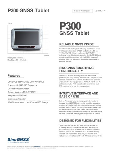 P300 GNSS Tablet