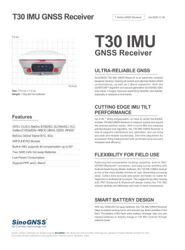 T30 IMU GNSS Receiver
